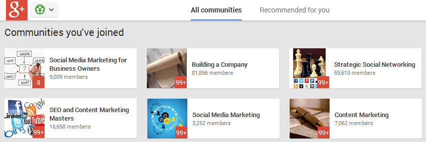 10 Online Communities For Expanding Your Blog Network - Google Plus Communities