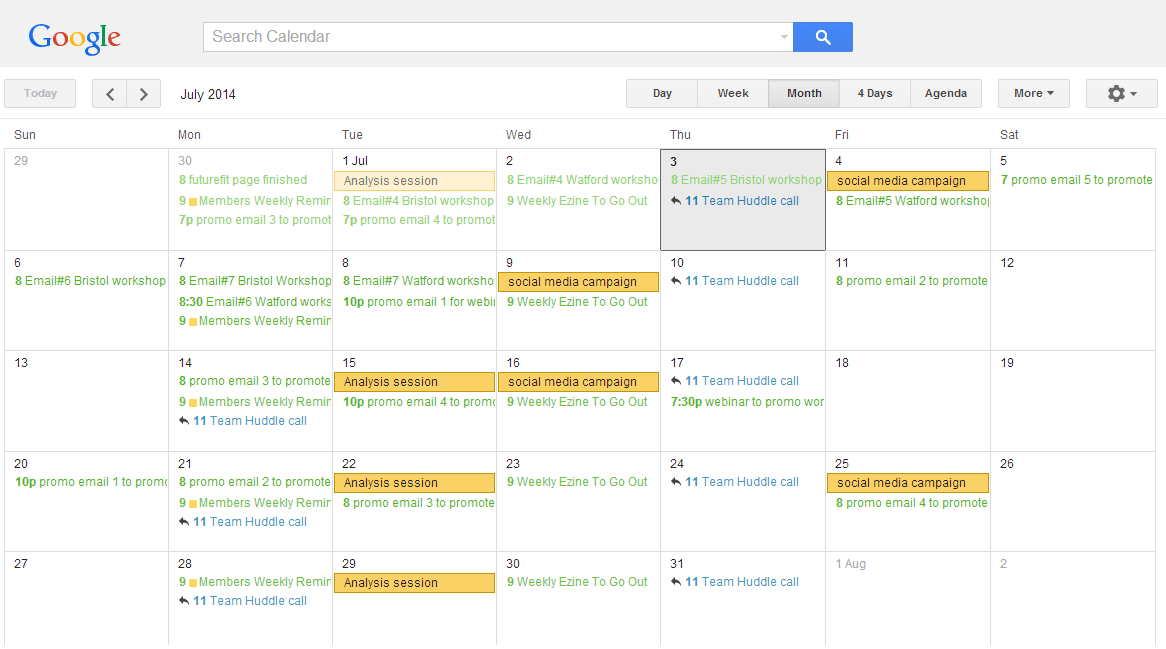 Are You Using A Marketing Calendar, You Should Be... - Google Calender