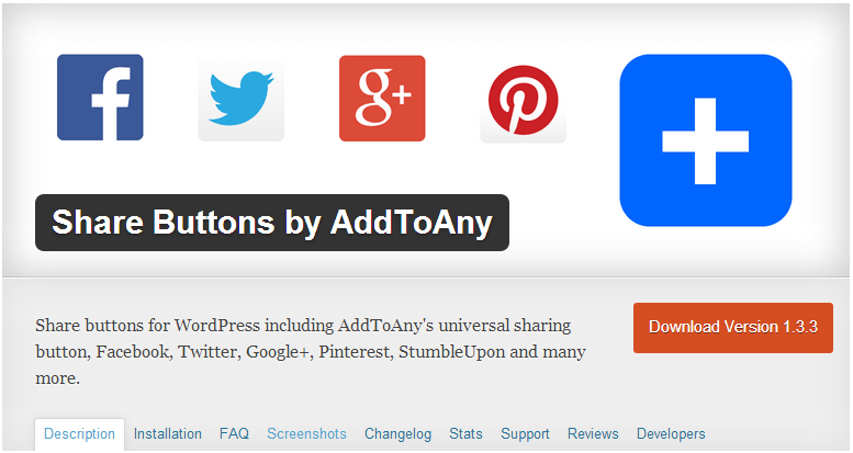 Content Marketing Plugins - Share Buttons by AddToAny