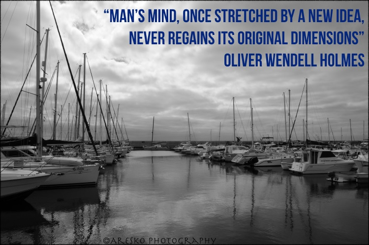 Marketing Quotes - Man's mind, once stretched by a new idea, never regains its original dimensions - Oliver Wendell Holmes