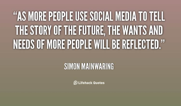 Social Marketing Quotes - Simon Mainwaring