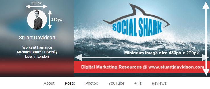 Social Media Branding - Google Plus Sizes New