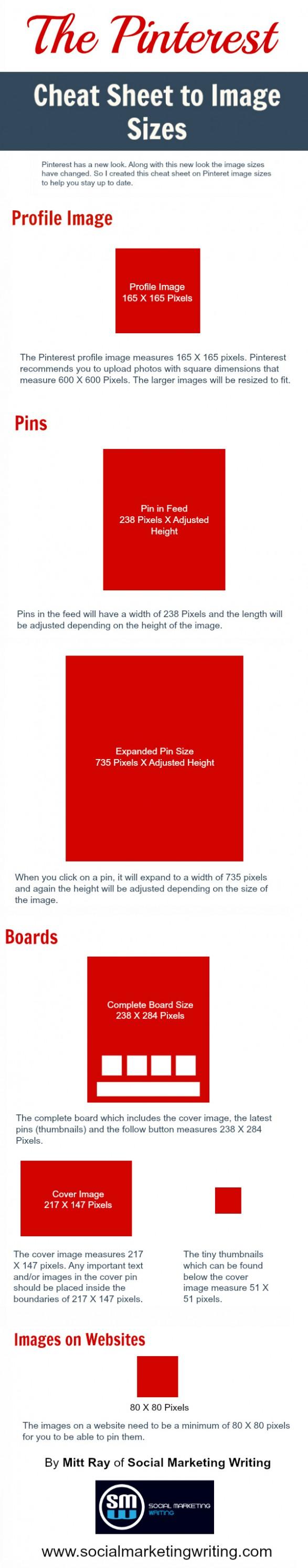 Social Media Branding - Pinterest Sizes