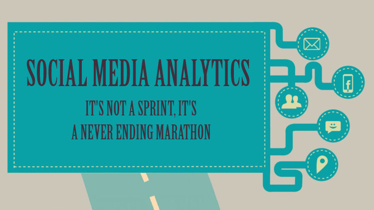 social media analytics infographic – its not a sprint