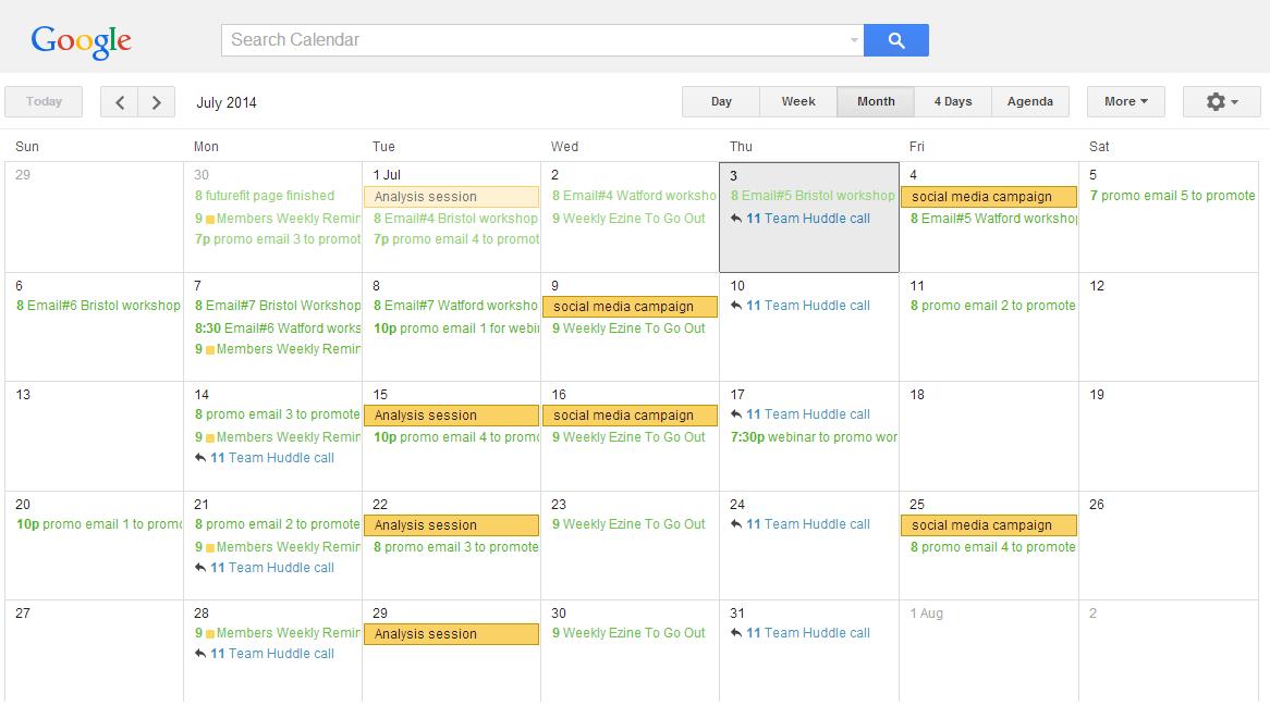 Are You Using A Marketing Calendar, You Should Be... - Google Calender